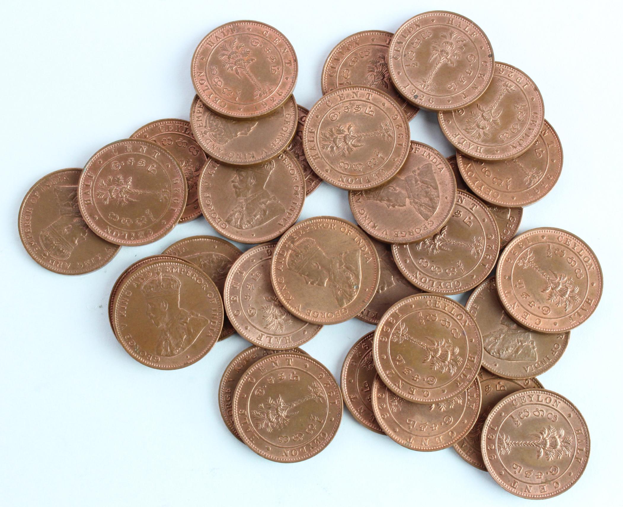 Ceylon Half Cents 1926 (30) BU