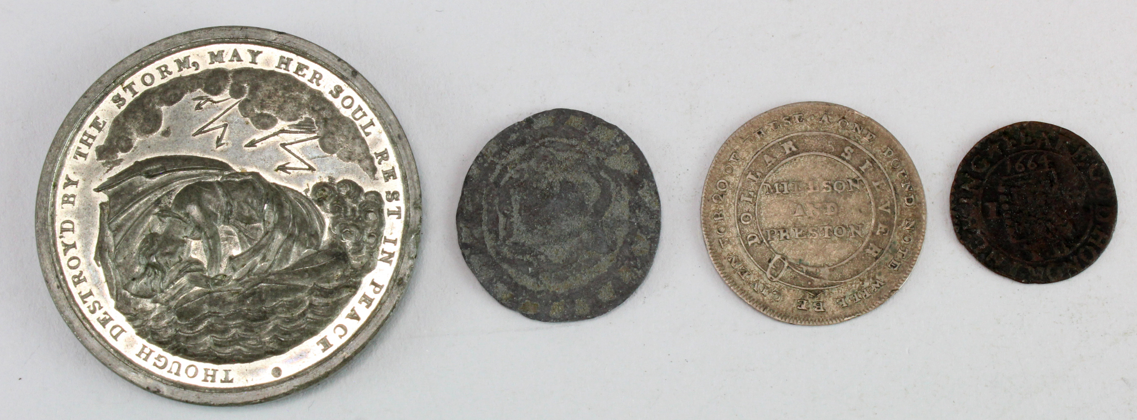 British Tokens & Medals (4): A very rare 17th token: Dickinson 'Uncertain' #65 'TOVCH NOT MINE - Image 2 of 2