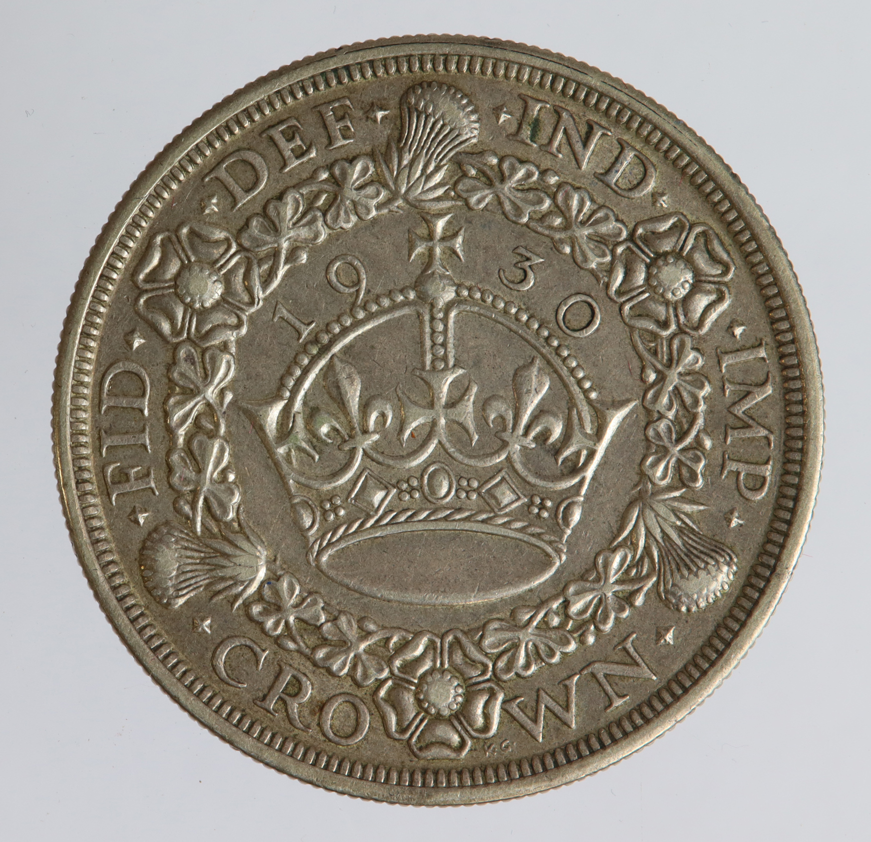 Crown 1930 wreath, VF - Image 2 of 2