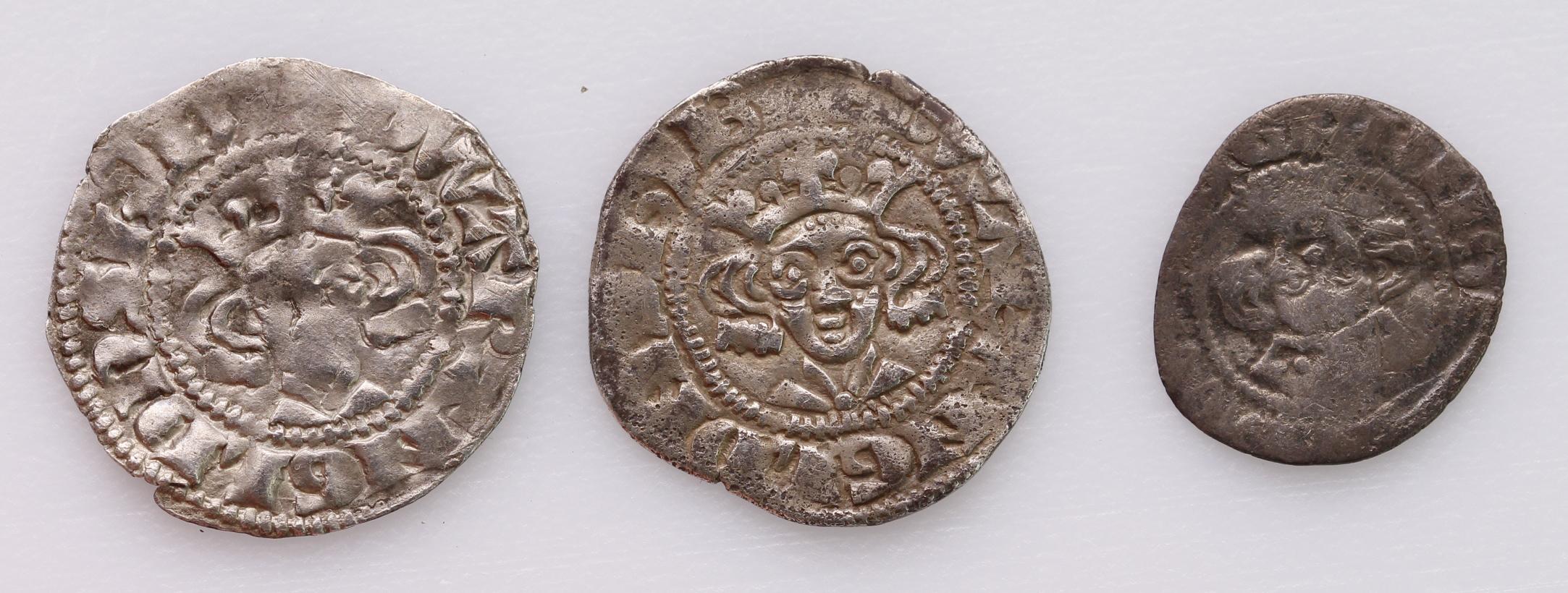 Edward I, Berwick-on-Tweed (3): Penny S1415, Blunt type III, 1.28g, nVF weak in places, small crack;