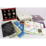 GB Royal Mint, 24 sets including Mint Sets (1990 baby, 1995), Proof Sets (1981 corroded, 2002 deluxe