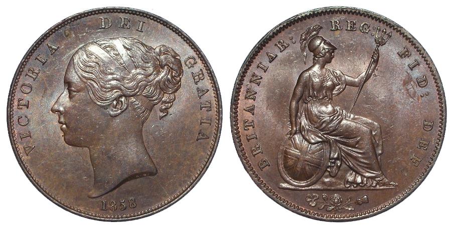 Penny 1858/3 OT, EF