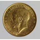 Sovereign 1927SA, Pretoria Mint, South Africa, EF, a few marks.