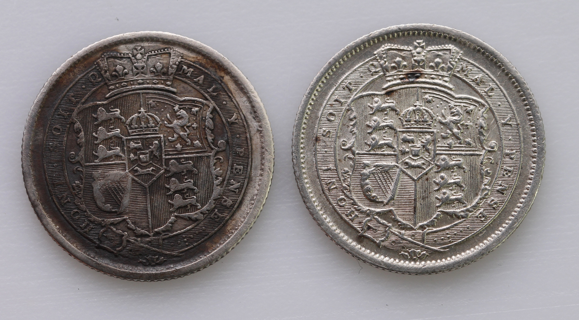 Shillings (2): 1816 aEF and 1819/8 cleaned VF - Image 2 of 2
