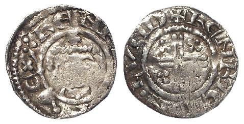 Richard I Short Cross Silver Penny, Class 4b, London mint, moneyer Henry, S.1348C, 1.04g, Fine;