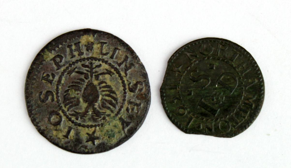 Tokens - (2) comprising Cambridge Joseph Linsey 1663, 17th centaury copper Half Penny - better - Image 2 of 2