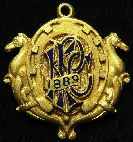 Horse Racing Badge: Kempton Park 1889 Gents.