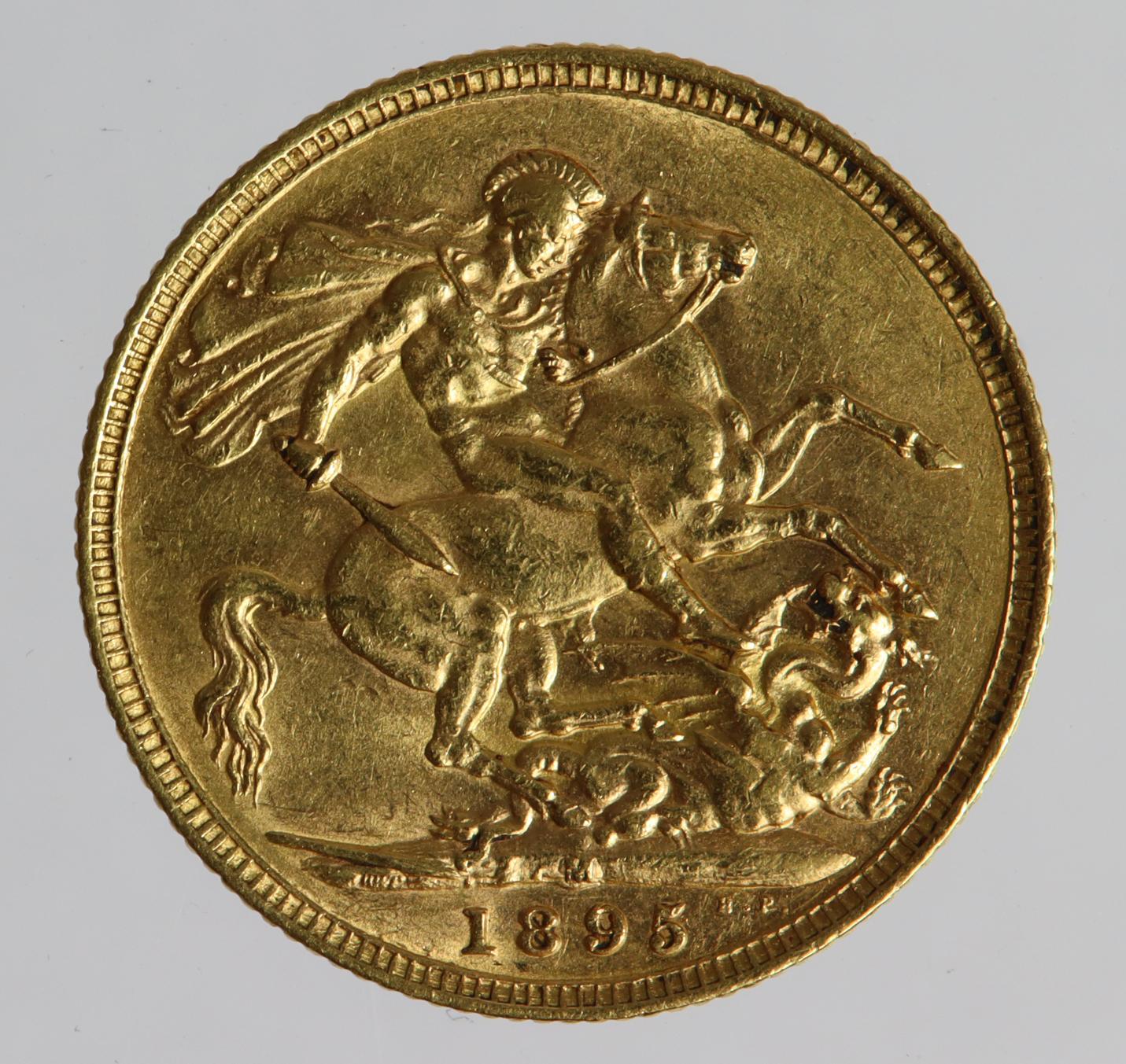 Sovereign 1895M, Melbourne Mint, Australia, GVF - Image 2 of 2