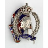 George V 1910-1935 silver, enamel & paste stones (one small stone missing) Silver Jubilee badge/