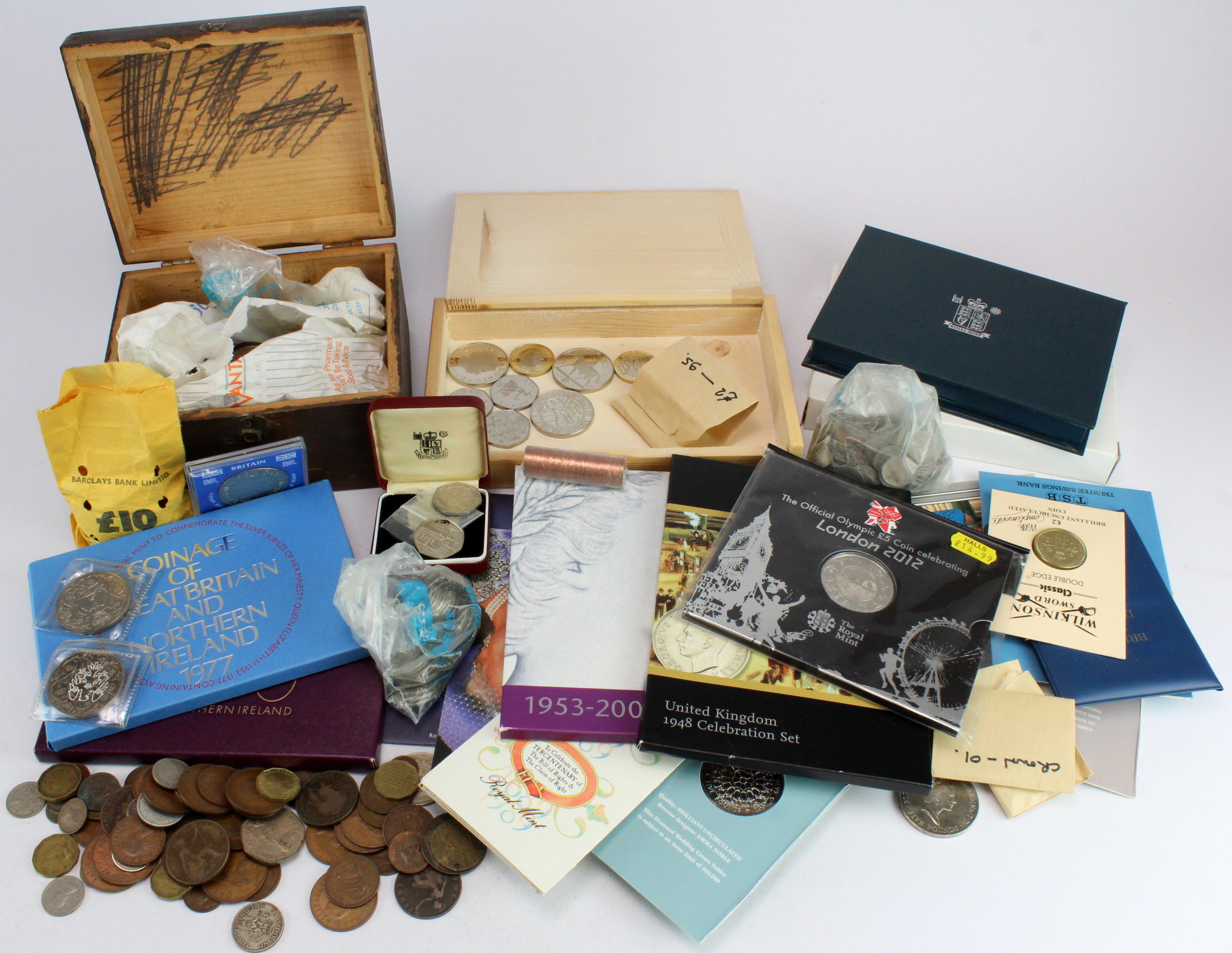 GB & World Coins - predecimal and world coins, silver noted; commemorative coins and presentation