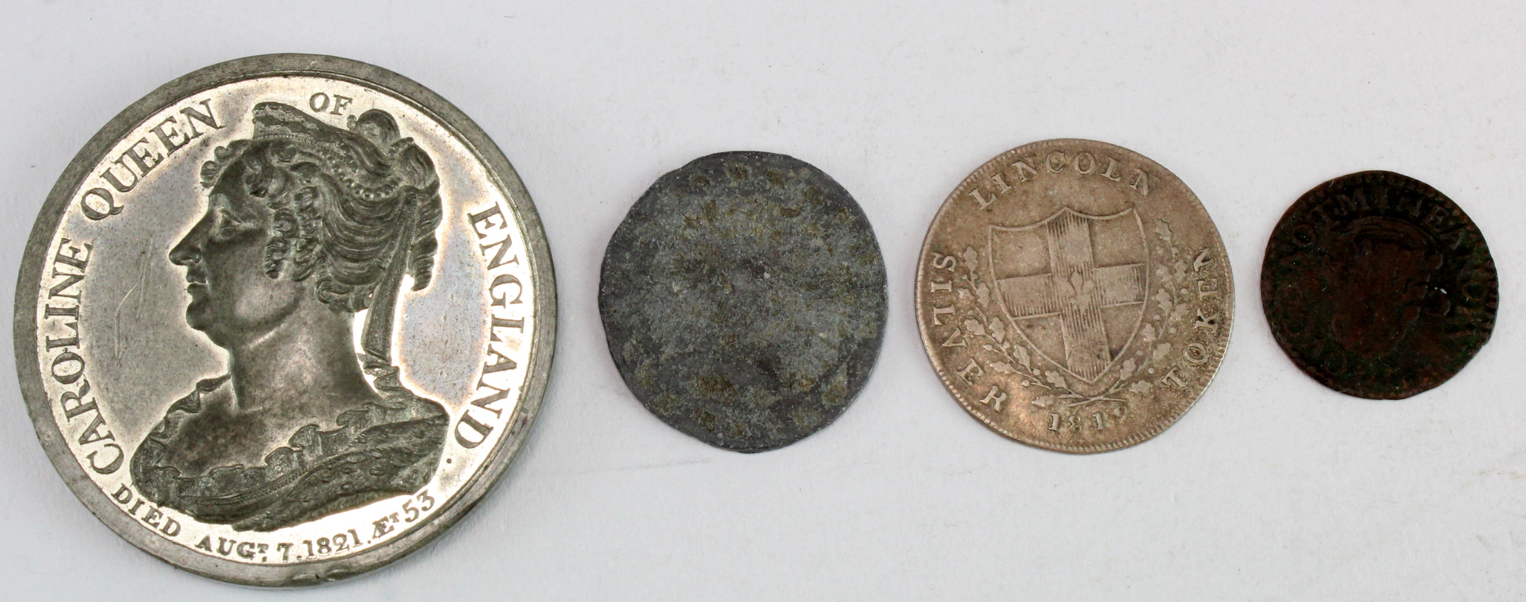 British Tokens & Medals (4): A very rare 17th token: Dickinson 'Uncertain' #65 'TOVCH NOT MINE
