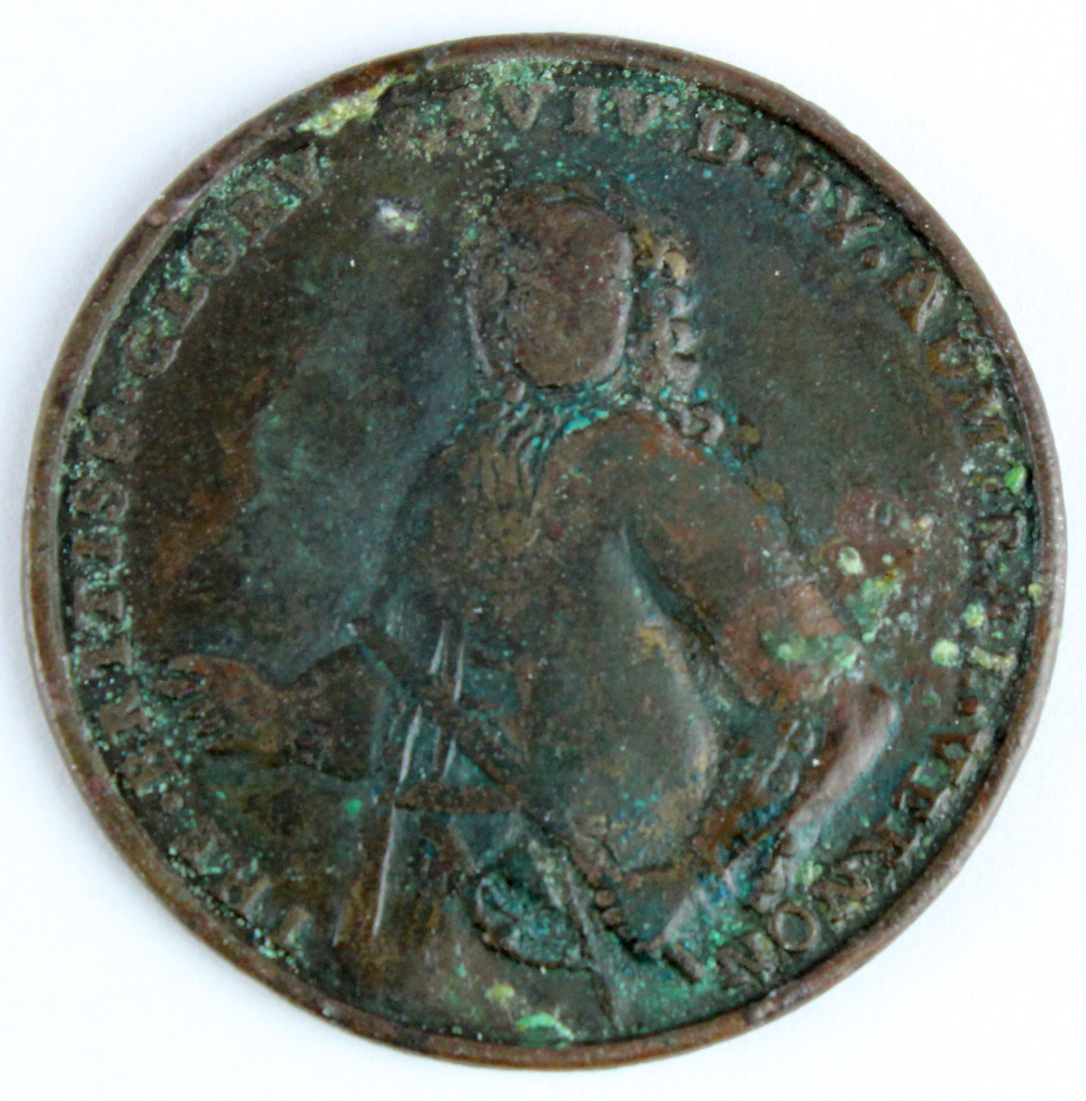 British Commemorative Medal, copper d.37mm: Capture of Porto Bello 1739, unsigned (by Pinchbeck),