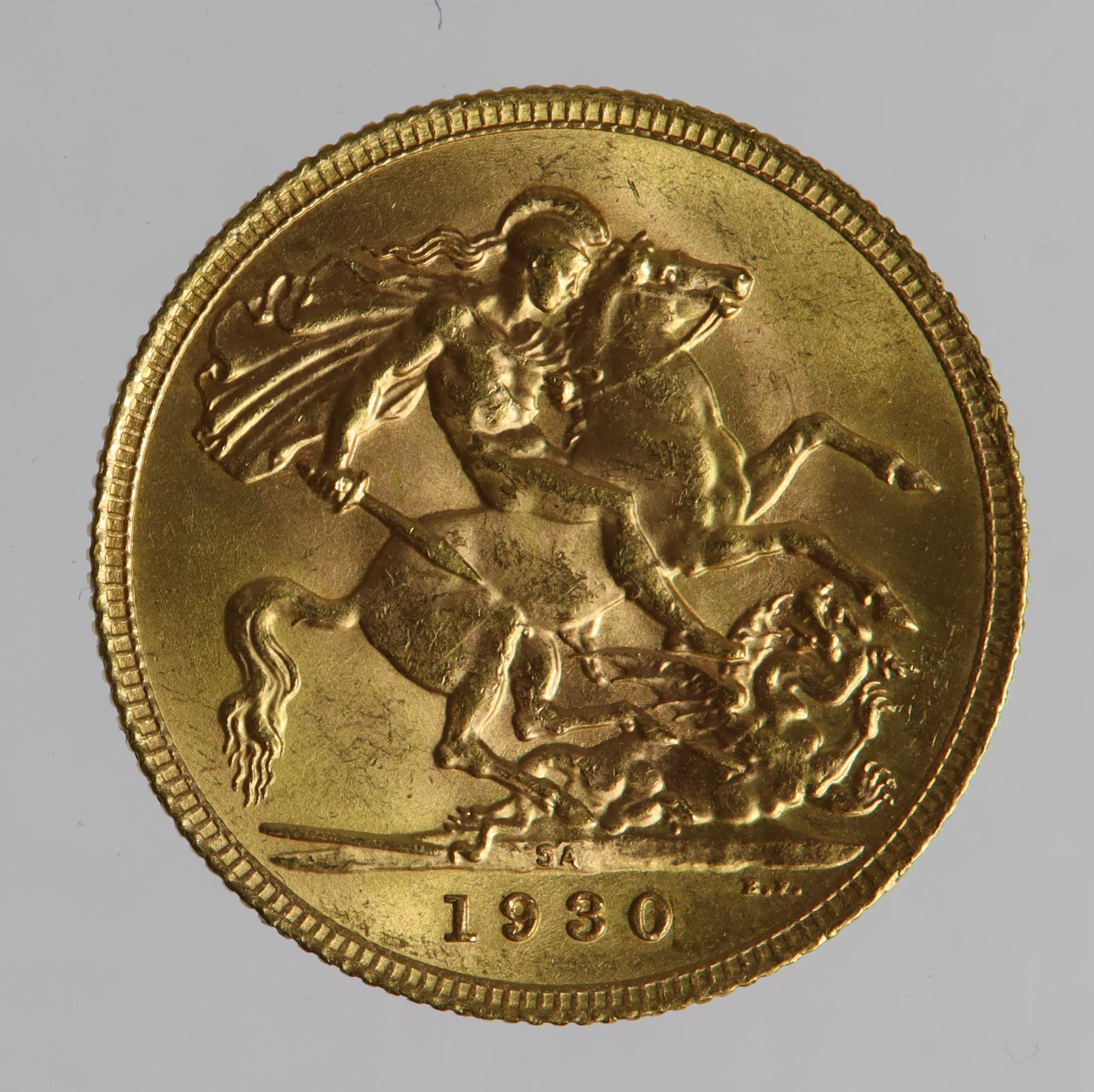 Sovereign 1930 SA, Pretoria Mint, South Africa, UNC - Image 2 of 2