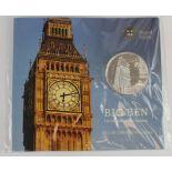 "Silver £100 2015 ""Big Ben"" BU in the Royal Mint packaging."