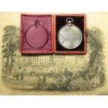 Wesley College, Sheffield, South Yorkshire, unmarked silver medal, undated (1878 on Certificate)