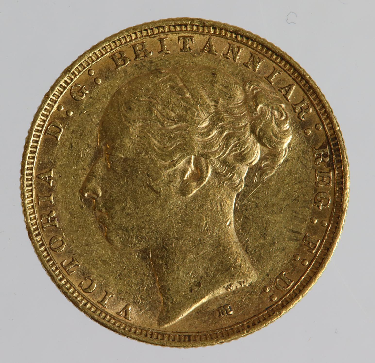 Sovereign 1886m (St George) VF