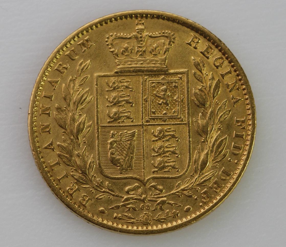 Sovereign 1866 shield back (dn63) nVF/VF - Image 2 of 2