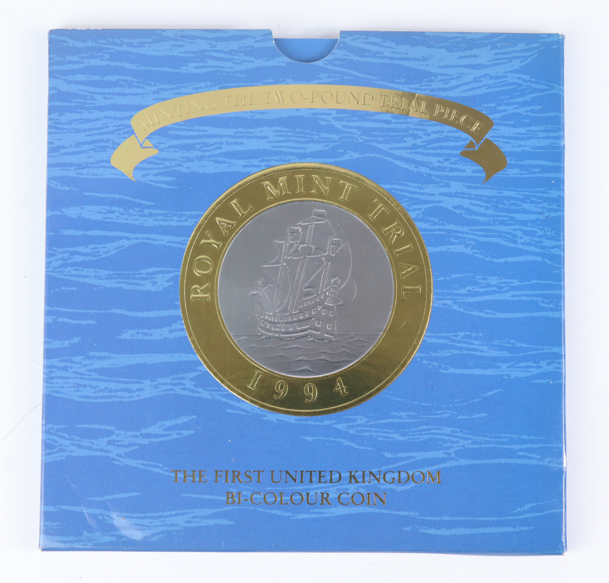 """Two Pounds 1994 """"Trial piece"""" BU in the Royal Mint packaging"""