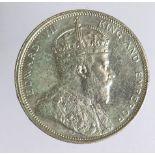 Straits Settlements silver Dollar 1903B, cleaned GVF