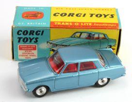 Corgi Toys, no. 252 'Rover 2000' (blue), contained in original box