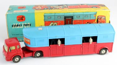 Corgi Major Toys, no. 1130 'Circus Horse Transporter with Horses', insert present, with six
