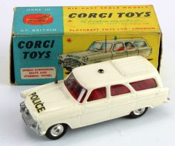 Corgi Toys, no. 419 'Ford Zephyr Motorway Patrol', siren missing, contained in original box (sold as