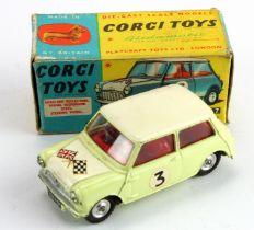 Corgi Toys, no. 227 'Morris Mini Cooper Competition Model' (cream), contained in original box