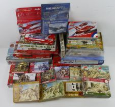 Airfix. A collection of twenty-two boxed mostly Airfix kits (Military & Aviation related), including