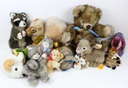 Steiff. A collection of fourteen Steiff bears & animals, including Dormy, Molly Teddy, Camel etc.