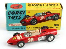 Corgi Toys, no. 154 'Ferrari Formula 1 Grand Prix Racing Car', contained in original box