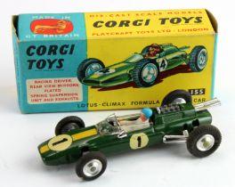 Corgi Toys, no. 155 'Lotus Climas Formula I Racing Car' (green), contained in original box