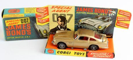 Corgi Toys, no. 261 'Special Agent 007 James Bonds Aston Martin D.B.5', with original insert, two