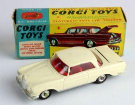 Corgi Toys, no. 230 'Mercedes Benz 220 SE Coupe' (cream), contained in original box