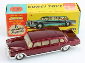 Corgi Toys, no. 247 'Mercedes Benz 600 Pullman' (maroon), contained in original box