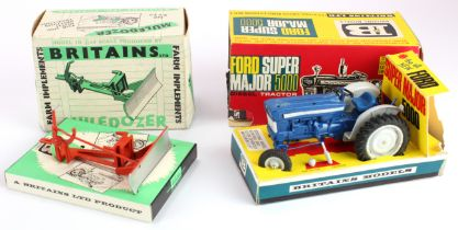 Britains Ford Super Major 5000 Diesel Tractor (no. 9527), with insert, contained in original box (