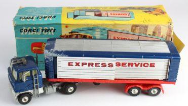 Corgi Major Toys, no. 1137 'Ford Tilt Cab H Series with Detachable Trailer', insert present, some