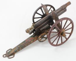 An early 20th century Marklin camouflage field gun.