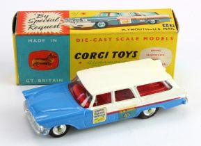 Corgi Toys, no. 443 'Plymouth U.S. Mail', contained in original box