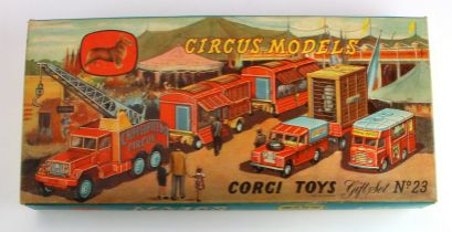 Corgi Major Toys, Gift Set no. 23 'Chipperfields Circus Models', looks unopened, with inner