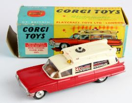 Corgi Toys, no. 437 'Superior Ambulance', contained in original box (flaps missing to one end)