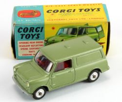 Corgi Toys, no. 450 'Austin Mini Van' (gold), tow bar present, contained in original box
