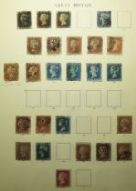 GB - 1840-1936 used collection commencing with a good first page with three Penny Blacks and other