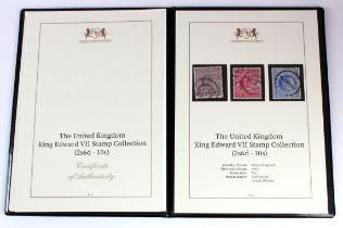 GB - Harrington & Byrne folder with EDVII 2/6 to 10s, high values with parcel cancels, cat £900