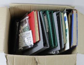 GB - large box with decent face value content in several albums / stockbooks. Noted many Penny Red