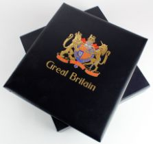 GB - Extensive ranges of GB Postal History displayed in an album inc 1840 Penny Blacks on cover,