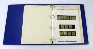 GB - KEVII used in blue binder, values to 1/-, various shades and paper types, eg 1902/11 (SG232/