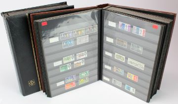GB - collection in two large stockbooks, mainly mint or um to 2000, fairly complete with Commems,