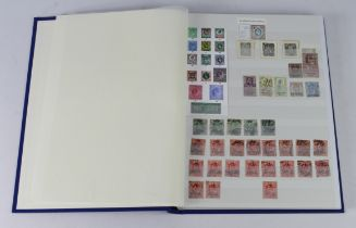 GB - blue stockbook of KEVII mint & used, higher denominations used only. Duplication heavy for some