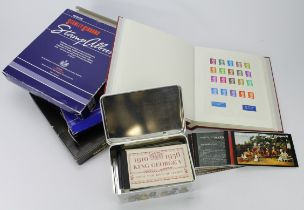 GB - 1990's - 2000's mint and used in 3x albums, Commemoratives inc M/Sheets, some UM when stamps in