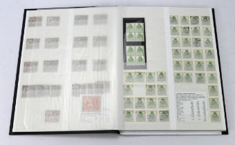 GB - black stockbook inc PUC, Wembley 1924 and Seahorse issues used. With duplication eg 1d